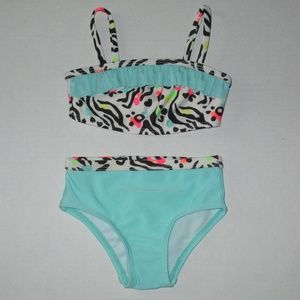 New Girls Size 12 mths Op 2 piece Bathing Suit